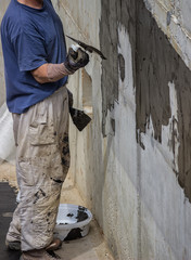 Exterior basement wall waterproofing 2