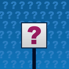 Question sign with blue background