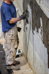 Exterior basement wall waterproofing 3