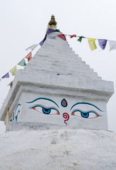 Buddhist stupa in Khunde, Everest region, Nepal