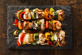 Fototapety Homemade Chicken Shish Kabobs