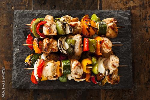 Fotobehang Vlees Homemade Chicken Shish Kabobs