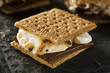 S'mores with Marshmallows Chocolate and Graham Crackers - 66442999