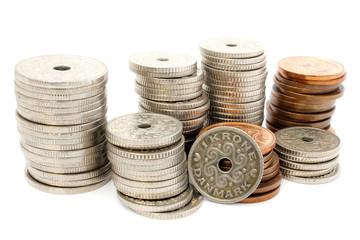 Columns of coins DKK