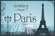 Copyspace Retro Style Poster With Paris Background