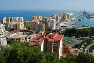 La Malagueta, panorámica, Málaga
