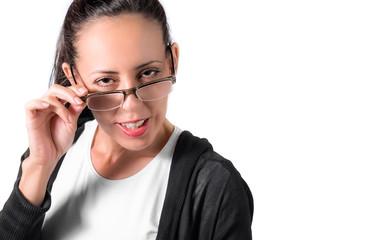 Mujer con gafas