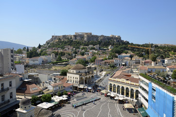 Monastiraki and Acropolis view, Athens, Greecd
