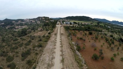 New Street Construction with Seaview - Aerial Flight, Mallorca