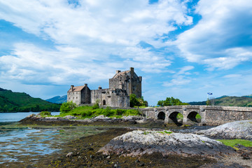 Famous Eilean Donan Castle in the highlands of Scotland
