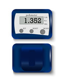 Blue pedometer for walking, vector illustration