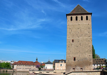 Ponts Couverts tower in Strasbourg