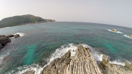 Mediterranean Coastline & Cliffs - Aerial Flight, Mallorca
