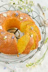 Gluten free cornmeal orange cake