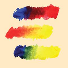 Watercolor hand drawn gradient vector stripes