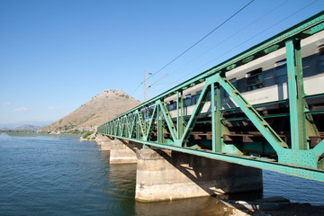 Railway bridge on the Skadar lake, Montenegro