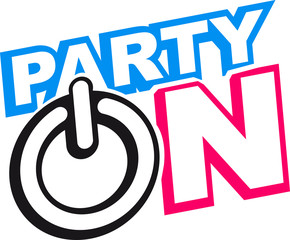 Party On Power Energie Symbol  Go Start