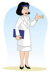 Doctor woman with documents