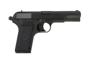 Soviet handgun TT (Tula, Tokarev) isolated on white background