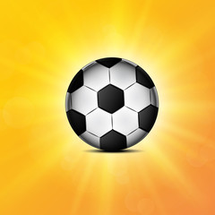 Soccer ball web icon, flat design
