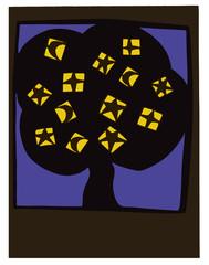 Summer night tree