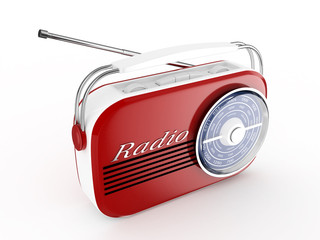 3d Retro Radio - isolated