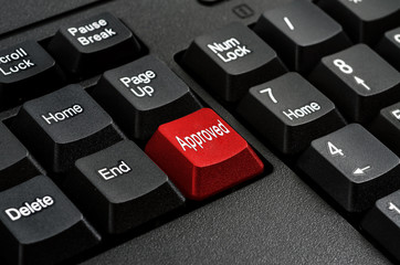 Keyboard - Red key Approved , business Concepts And Ideas