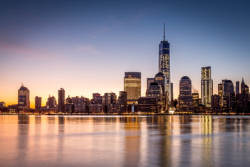 Sunrise over the Lower Manhattan