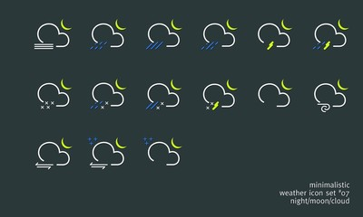 weather icon set 07