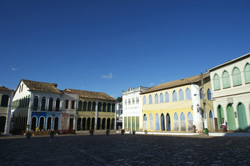 Colorful Colonial Architecture Lencois Bahia Brazil