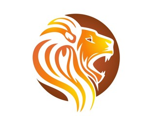 lion logo,lion head symbol,cat carnivore icon