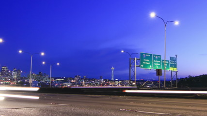 Seattle I-5 Traffic Time Lapse Zoom