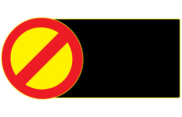 Blank Stop Forbidden Sign Symbol Zone Vector