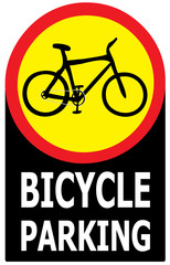 Only Bicycle Parking Area Sign Label