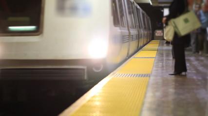 SF Subway Train Arriving
