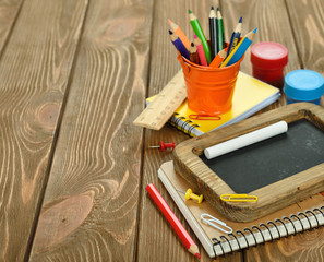 Notebooks and pencils
