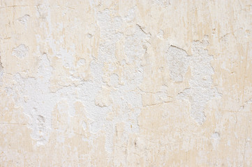 Weathered whitewashed wall