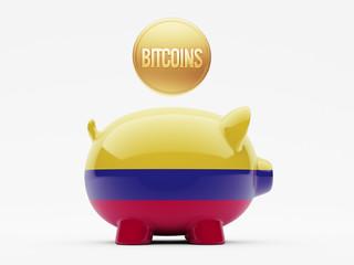 Colombia Bitcoin Concept