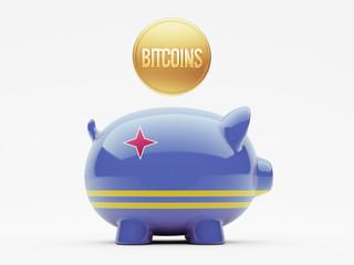 Aruba. Bitcoin Concept