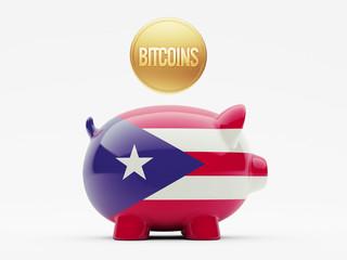 Puerto Rico Bitcoin Concept