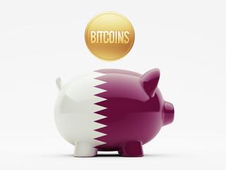 Qatar Bitcoin Concept