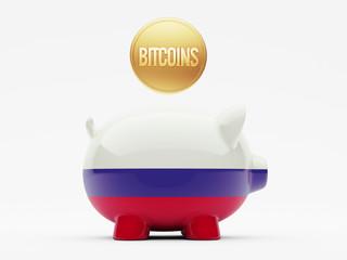Russia Bitcoin Concept