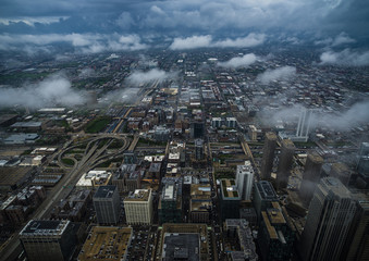 aerial photograph Chicago