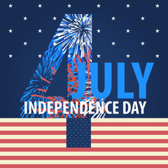4th July American Independence Day design, vector illustration