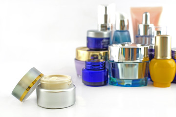 Set of various cosmetics