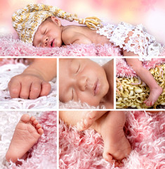 Collage - newborn baby