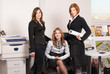 Three businesswomen in architectural office