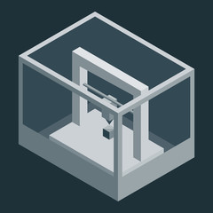Dark Vector isometric 3D printer