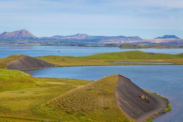 beautiful vibrant summer landscape of famous place tourist icela