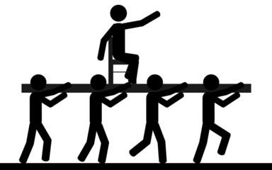 Men under slavery
